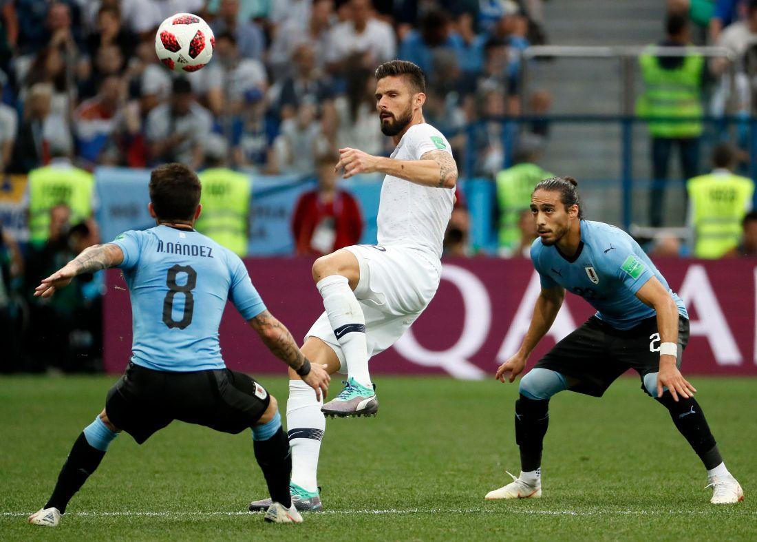 Quarter Final Uruguay vs France, Nizhny Novgorod, Russian Federation - 06 Jul 2018
