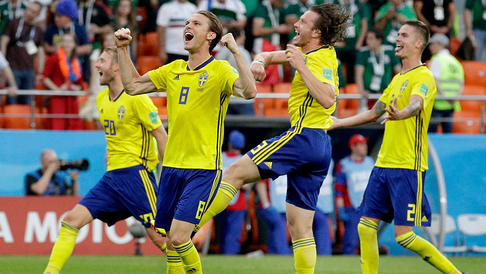 Russia Soccer WCup Mexico Sweden, Yekaterinburg, Russian Federation - 27 Jun 2018