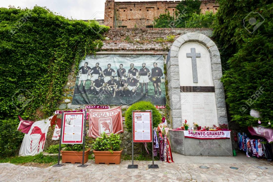 "Superga basilica, ""Grande Torino"" football memorial in Turin hil"